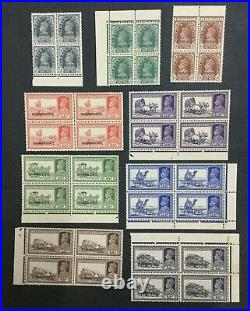 Momen India Chamba Sg #82/92 1938 Blocks Mint Og Nh Lot #198489-6041