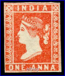 Momen India One Anna Unused Die I 1854-5 Lot #61351