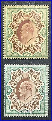 Momen India Sg #140-141 1904,1911 Mint Og H £180 Lot #61495