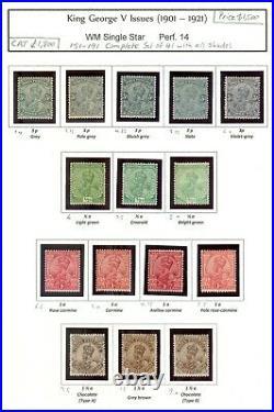 Momen India Sg #151-191 1901-21 Complete Set Mint Og H £1,800 Lot #61341