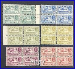 Momen India Sg #220-225 1929 Blocks Mint Og 2h/2nh (on Each) £200++ Lot #63225