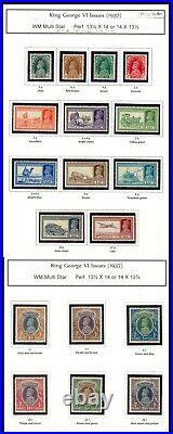 Momen India Sg #247-264 1937 Complete Set Mint Og H Lot #61342