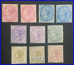 Momen India Sg #73-82 1868-76 Mint Og H Lot #61362