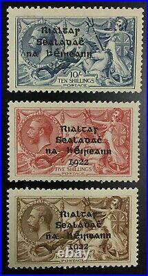 Momen Ireland Sc #12-14 1922 Seahorse Mint Og H $410 Lot #62238