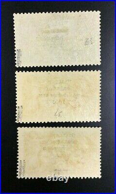 Momen Ireland Sc #36-38 1922 Seahorse Thom Mint Og H Cert $2,500 Lot #62239