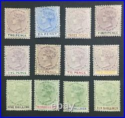 Momen Lagos Sg #30-41 1887-1902 Mint Og H Lot #61307