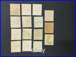 Momen Malaya Fms Sg # Tigers Mult Crown Ca Specimen Unused Lot #191481-471
