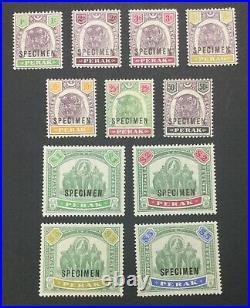 Momen Malaya Perak 1895-1899 Specimen Mint Og 8nh/3h Lot #60901