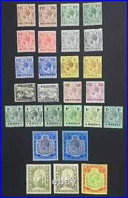 Momen Malta 1914-21 Complete With All Shades Mint Og H £677 Lot #60537