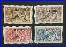 Momen Nauru Sg #20-23 1916-23 Mint Og H Lot #194539-3087