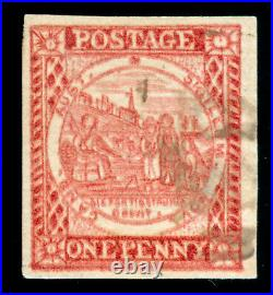Momen New South Wales Sg #13 Carmine 1850 Imperf Used Lot #60285