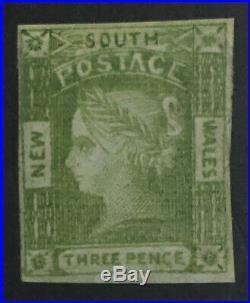Momen New South Wales Sg #67 1852 Imperf Mint Og H £4,250 Lot #60832