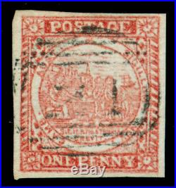 Momen New South Wales Sg #8 Dull Carmine 1850 Imperf Used Lot #60282