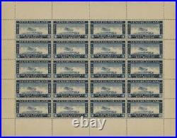 Momen Newfoundland Nfld 1932 Wayzata Airmail Sheet Mint Og Nh Cert Lot #60206