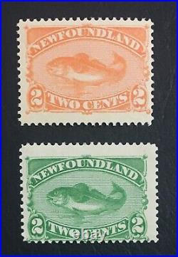 Momen Newfoundland Sc #46,48 Mint Og Nh Lot #61083