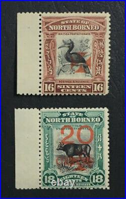 Momen North Borneo Sg #210-211 1916 Mint Og Nh £220++ Lot #61608