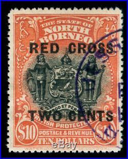 Momen North Borneo Sg #234 1918 Used Cert Lot #60135
