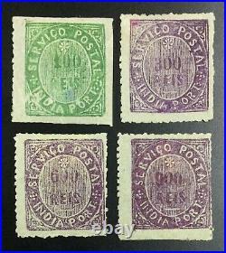 Momen Portugal Colonies India Sc #51,53-55 1877 Mint Og H Lot #62486