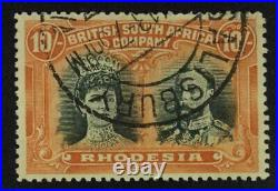 Momen Rhodesia Stamps Sg #163 1910-13 Used £300 Lot #63566