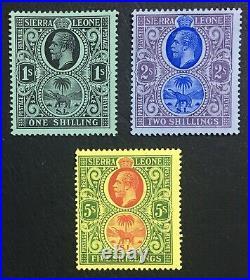 Momen Sierra Leone Sg #124-126 Mint Og Nh Lot #60526