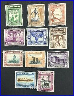 Momen Sierra Leone Sg #168-178 1933 Mint Og H Lot #61780