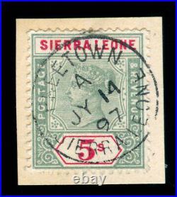 Momen Sierra Leone Sg #52 1896-1897 Used Lot #60041