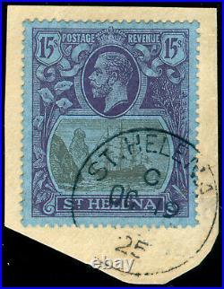 Momen St Helena Sg #113 1922-37 Used Lot #60045