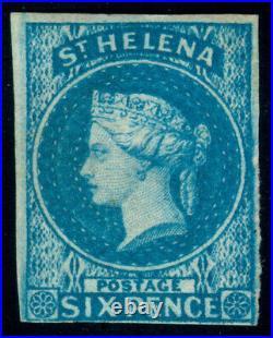 Momen St Helena Sg #1 1856 Imperf Mint Og H Lot #60408