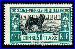 Momen St. Pierre & Miquelon #j44 1942 Mint Og Nh Lot #61409