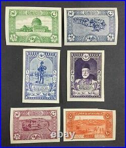 Momen Turkey 1918 Imperf Mint Og Nh Scarce Lot #63540