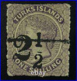 Momen Turks Islands Sg #29 1881 Unused £550 Lot #61976