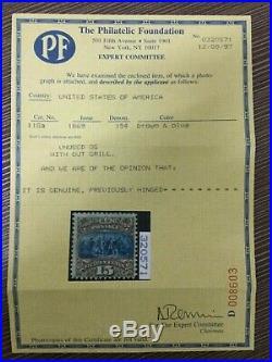 Momen US Stamps #118a Mint OG F/VF PF Cert RARE