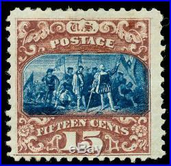 Momen US Stamps #119 Mint OG VF WEISS Cert