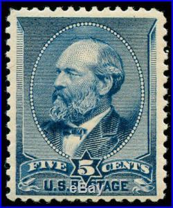 Momen US Stamps #216 Mint OG NH Weiss Cert VF