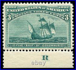Momen US Stamps #232 Mint OG NH PSE Graded XF-SUP 95