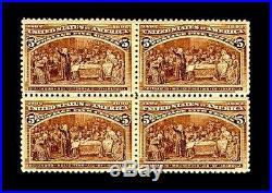 Momen US Stamps #234 Columbian Blk of 4 Mint OG VF/XF