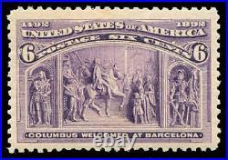 Momen US Stamps #235 Mint OG NH PSE Graded VF/XF-85J