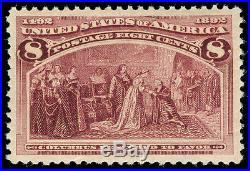 Momen US Stamps #236 MINT OG NH PSE GRADED Cert XF-SUP 95J