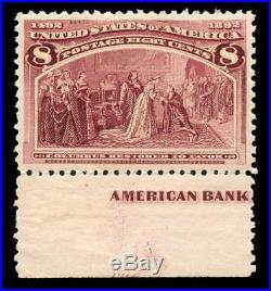 Momen US Stamps #236 Mint OG NH PSE Graded XF-SUP 95