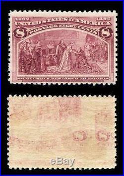 Momen US Stamps #236 Var. Printed on Both Sides Mint NH OG Scarce PF Cert