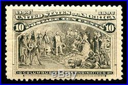 Momen US Stamps #237 Mint OG NH PSE Graded VF/XF-85J