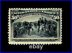 Momen US Stamps #240 Columbian Mint OG PSE Graded 80
