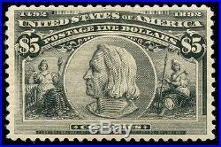 Momen US Stamps #245 Mint OG VF/XF PF Cert