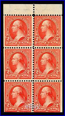 Momen US Stamps #279Bk Mint OG NH Booklet VF