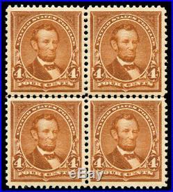 Momen US Stamps #280b Mint OG NH Block of 4 SUPERB PSE Cert