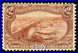 Momen US Stamps #293 $2 TRANS-MISS MINT OG VVLH VF+
