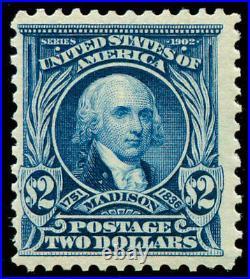 Momen US Stamps #312 Mint OG NH VF WEISS Cert