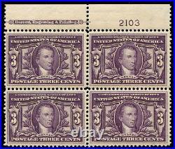 Momen US Stamps #325 Mint OG NH Plate Block of 4 VF