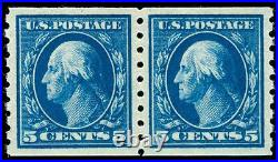 Momen US Stamps #396 Coil Pair MINT OG NH PSE Cert SUPERB