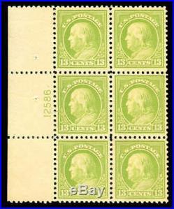 Momen US Stamps #513 Mint OG NH Plate Block of 6 XF
